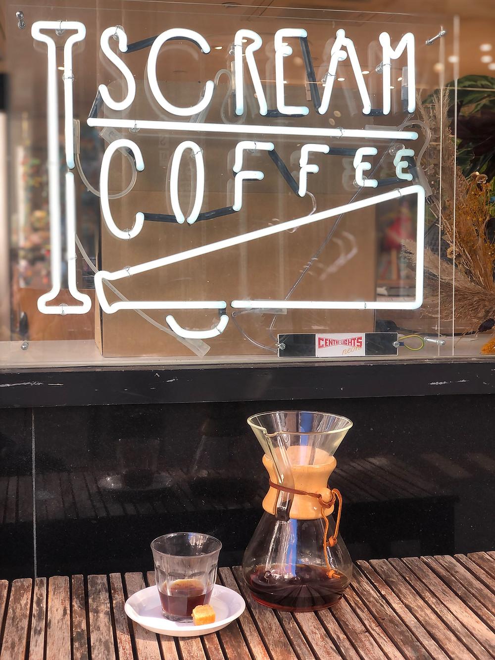 'I Scream Coffee' in Leiden
