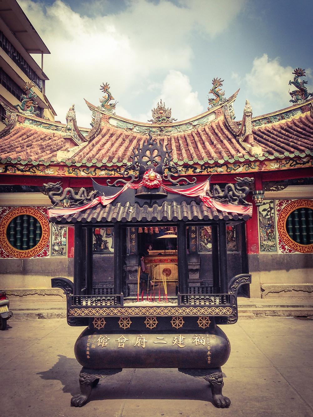 Temple in Saigon, Ho Chi Minh City Vietnam