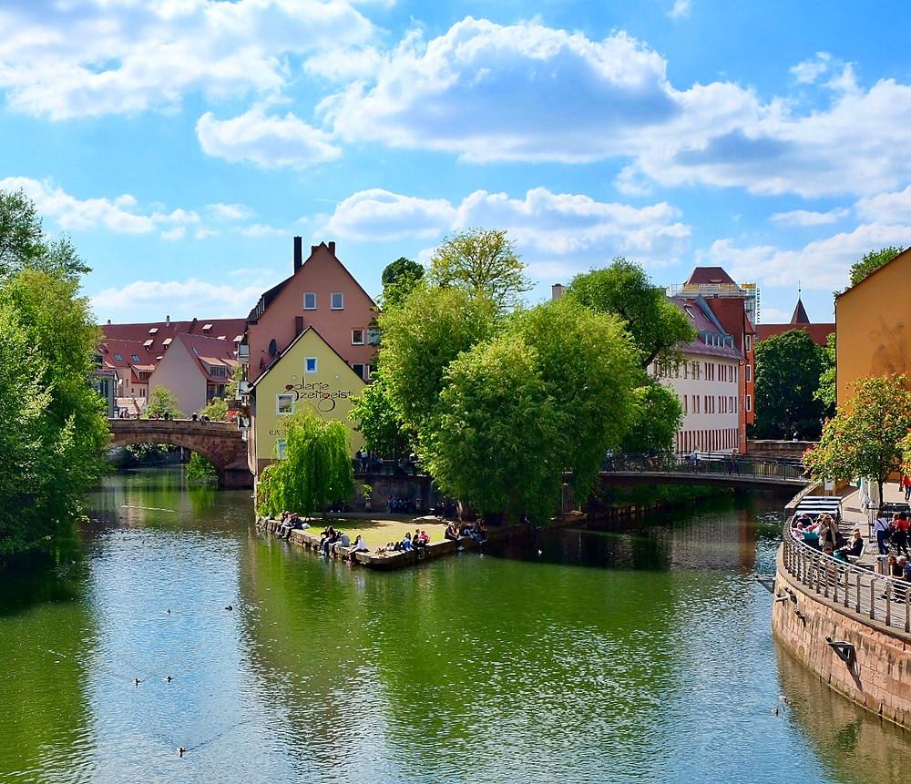 Pegnitz River in Nürnberg