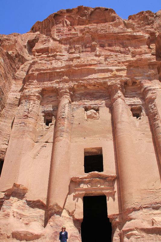 Lonnies Planet at  Royal Tombs in Petra Jordan