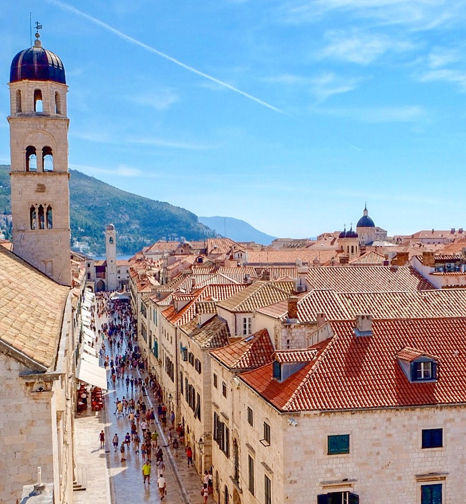 View over Stradun in Dubrovnik