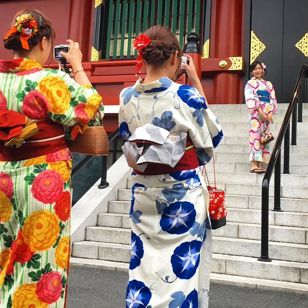 Girls in kimono at Sensõ-ji Temple, Tokyo
