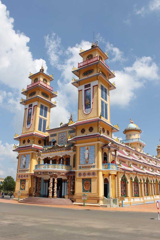 Cao Dai Temple building Vietnam