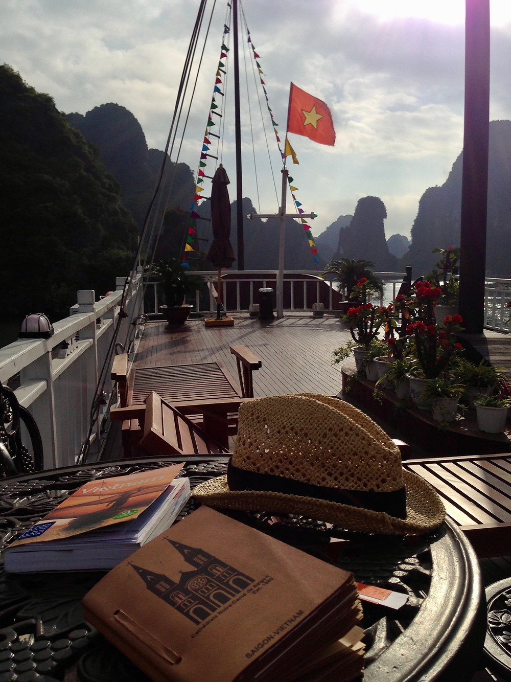 At the deck of Garden Bay in Halong Bay