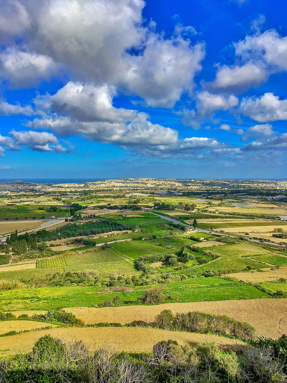 View from Mdina Malta
