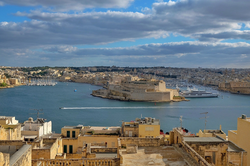View from Palazzo Jean Parisot Boutique Suites in Valletta