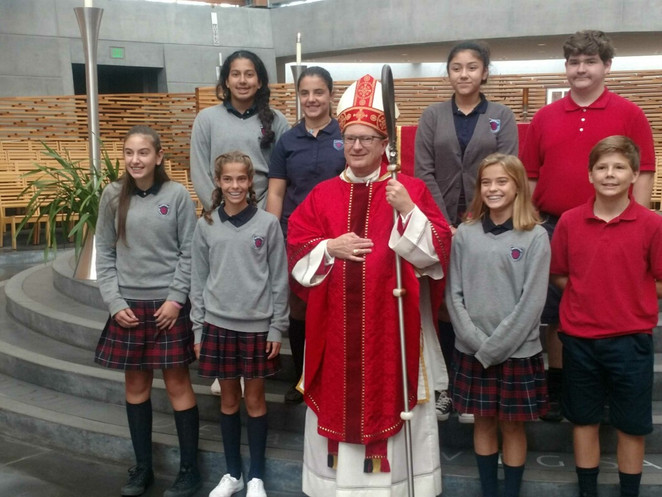 Mass of the Holy Spirit for 8th Graders at the Oakland Cathedral