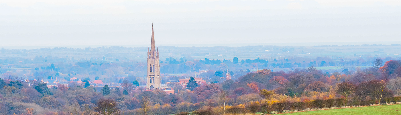 Louth Spire from a distance
