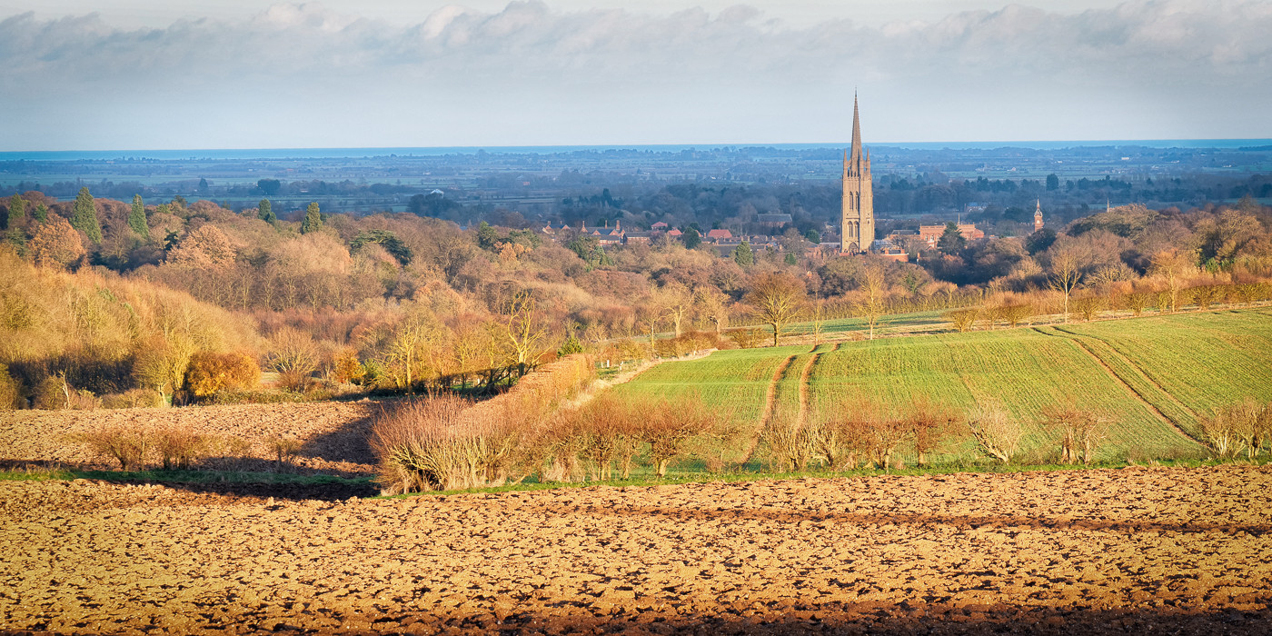 Warm evening light on Louth Spire