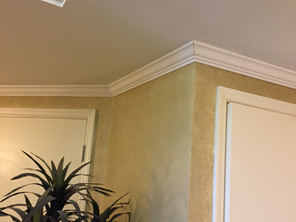 """""""After"""" shot of new elevator lobby moldings to hide cable wires"""
