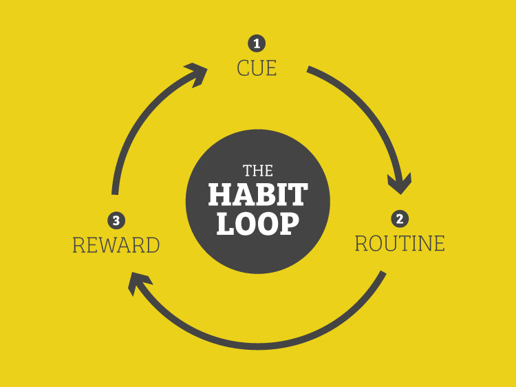 the shape of a habit (from: http://panthrofitness.com/wp-content/uploads/2016/08/The-Habit-Loop.jpg )