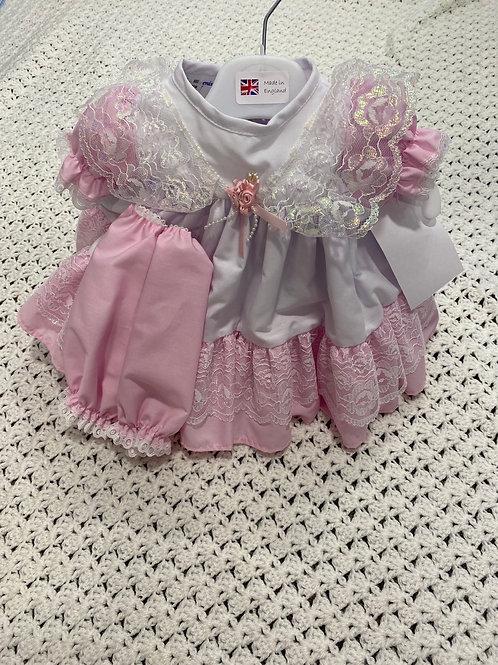 Sparkle Lace Frilly Dress & Pants   713