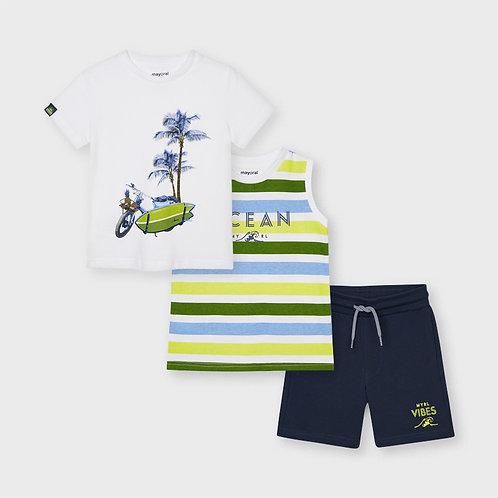 3 Piece Set shorts & 2 T-shirts