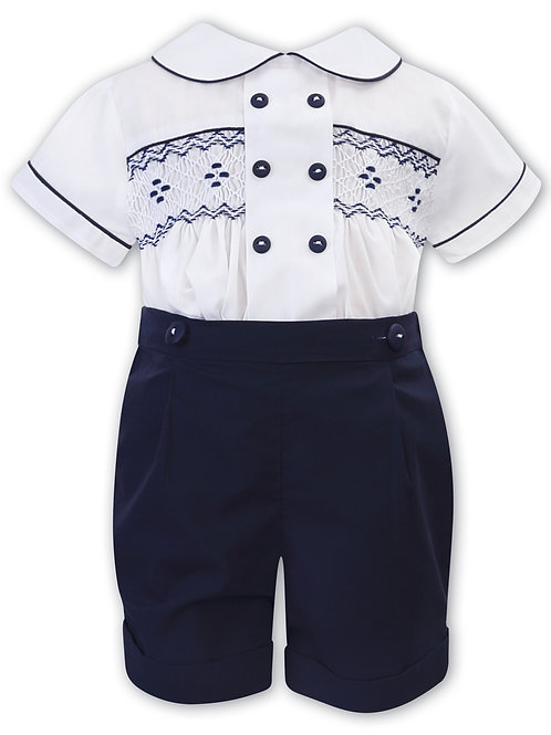 Sarah Louise 2 piece suit with Smocking to front