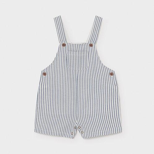 Linen Stripes Short Dungaree    1662