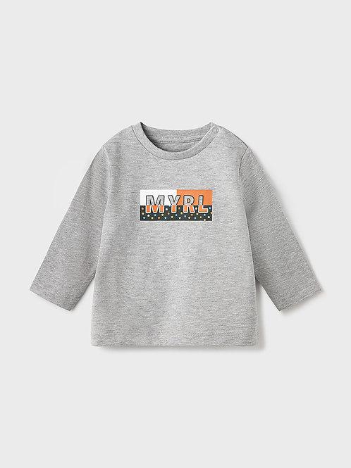 108 Mayoral Grey long sleeve T-shirt