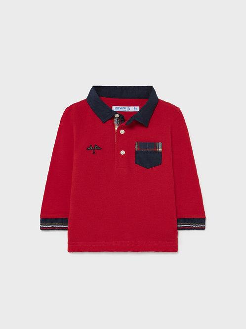 2139 Mayoral Long Sleeve Polo