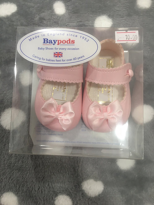 Baypod soft sole shoe, pink patent