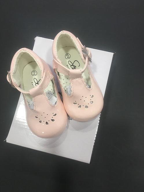 Sevva Pink Patent hard sole shoe