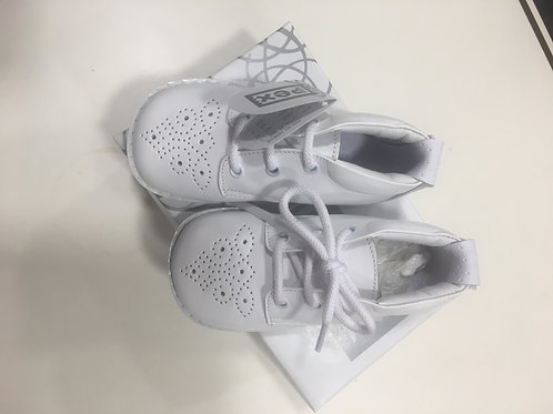 Pex Coleman shoe, White Leather Upper