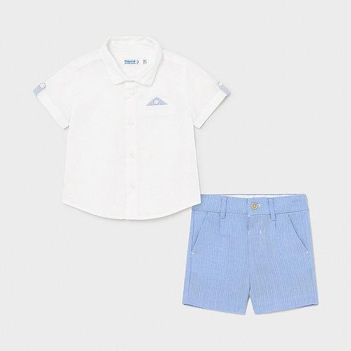 Dressy Linen Short Set     1252