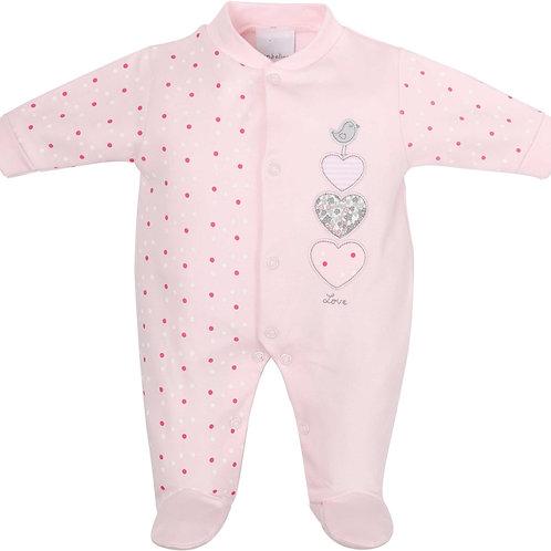 Triple Hearts Cotton Sleepsuit