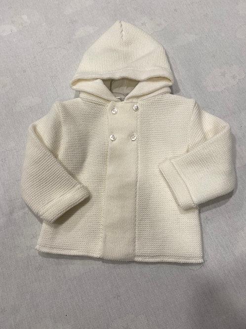 Zip Zap Jacket with Hood White