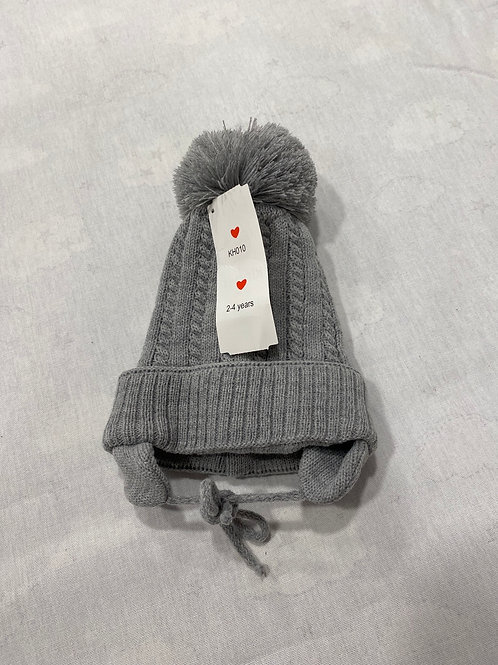 Grey Hat with ties