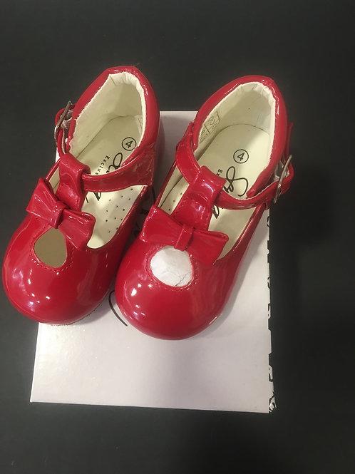 Sevva Red Patent Hard Sole Shoe