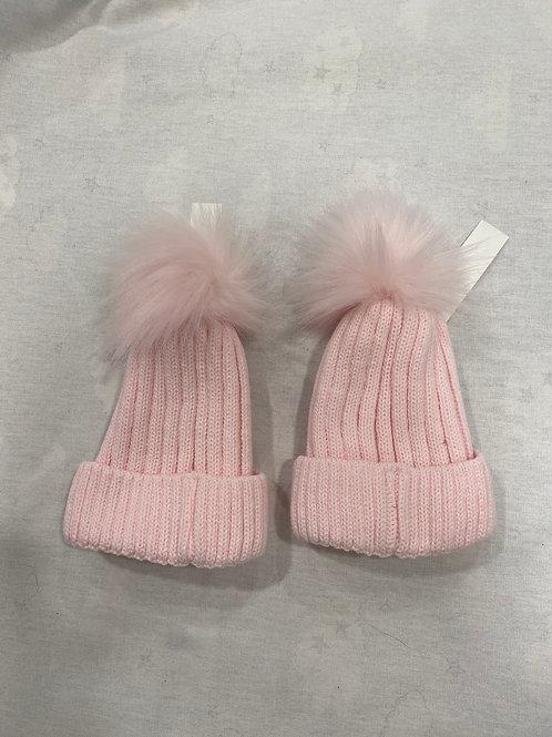 Lined Faux Fur Pom Pom Hat