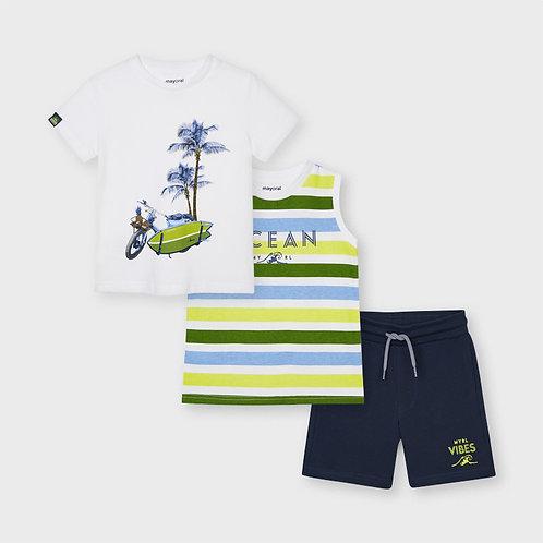 3 Piece set, shorts & 2 t-shirts