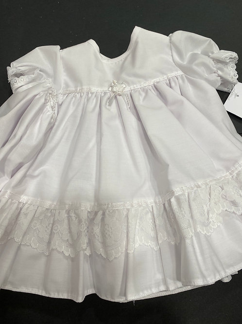 Cotton Dress & Pants with lace frill
