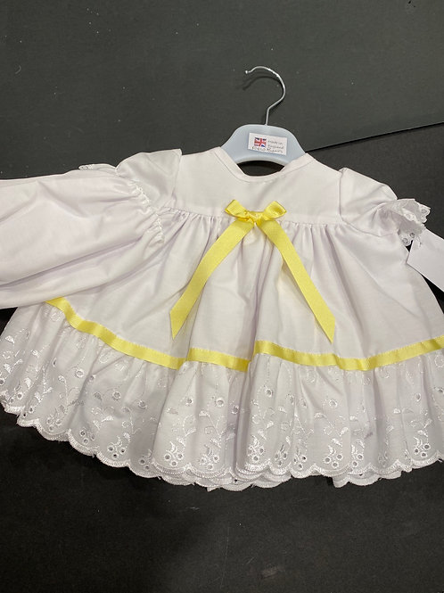 682  Cotton Dress with Broderie Anglaise to bottom