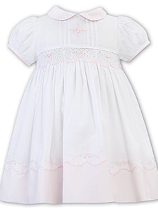 Sarah Louise dress with Smocking and Embroidery