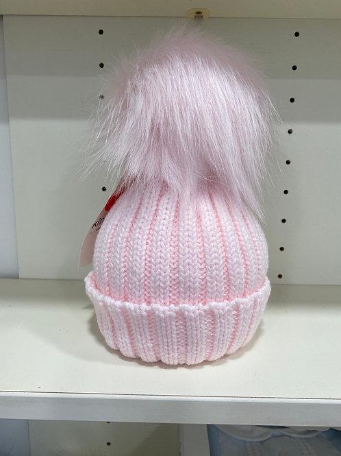 Faux fur single Pom Pom hat