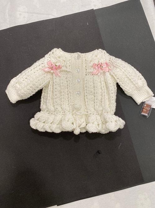 peplum crochet jacket, made to order.
