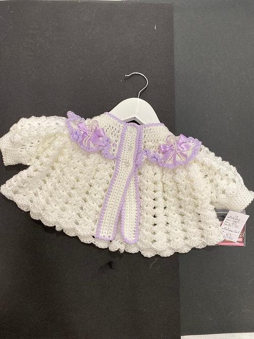 Fully trimmed crochet Matinee Jacket