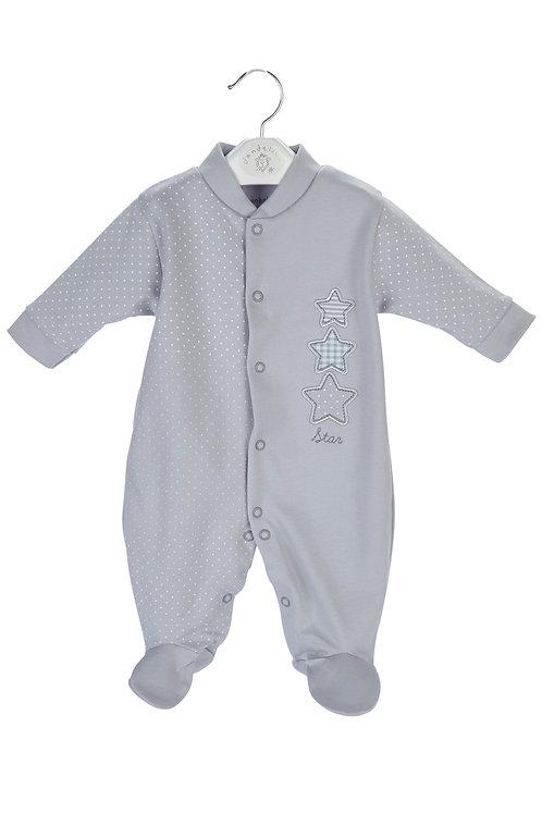 Triple Stars Cotton Sleepsuit