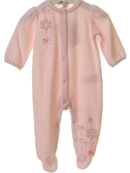BB 0166 Pink Babygrow
