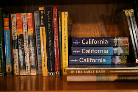 Books in the library to plan your hikes!