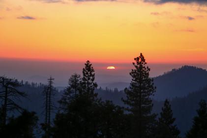 Sequoia National Park sunset