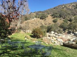 Buckeye Tree Lodge backyard and river