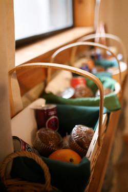 Breakfast baskets in the making
