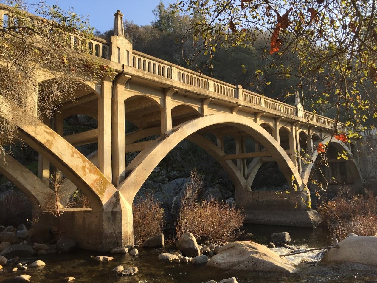 The historic Pumpkin Hollow Bridge