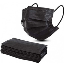 Pack x 10 Mascarillas Quirúrjicas color Negro