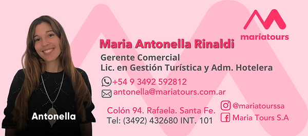 Contactá con Maria Tours ahora