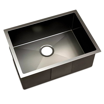 Top and undermount Handmade Sink 450mm Black