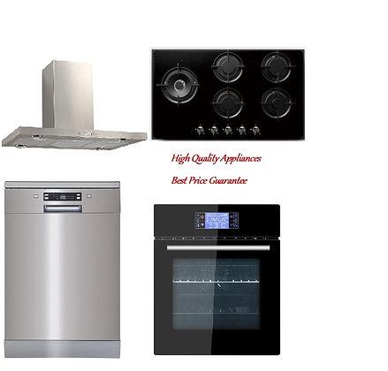 Range hood +Built-in Oven + Gas Hob + Dishwasher