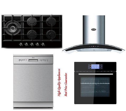 Rangehood + Oven + Dishwasher + Gas Hob