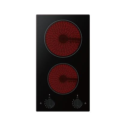 30cm Cremic Cooktop - Knob Control